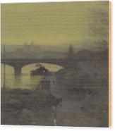 Jean-joseph-xavier View Of The Waterfalls At Tivoli 1788 Wood Print