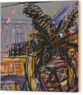 Jean Michel Basquiat Wood Print by Russell Pierce