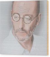 Jean Reno Wood Print