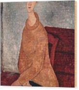 Jeanne Hebuterne In A Yellow Jumper Wood Print
