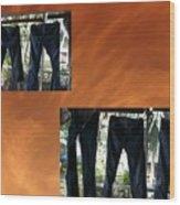 Jeans R Flying Wood Print