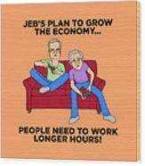 Jeb Bush Wood Print