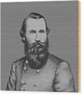 Jeb Stuart -- Confederate General Wood Print