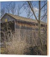 Jediah Hill Covered Bridge Wood Print