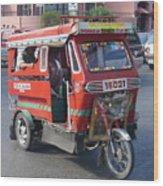 Jeepney 05 Wood Print