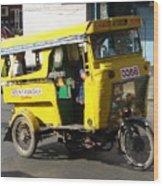 Jeepney 07 Wood Print