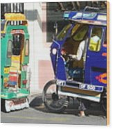 Jeepney 09 Wood Print