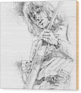 Jeff Beck - Truth Wood Print by David Lloyd Glover