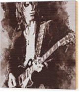 Jeff Beck - 01 Wood Print