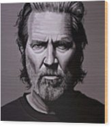 Jeff Bridges Painting Wood Print