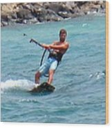 Jeff Kite Surfer Wood Print