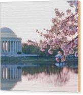Jefferson At Sunrise Wood Print by Don Lovett