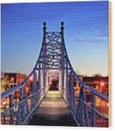 Jefferson Avenue Footbridge Wood Print