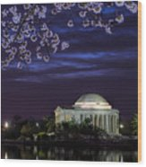 Jefferson Cherry Sunrise Wood Print
