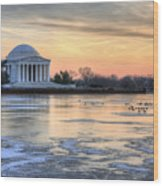 Jefferson Wood Print by JC Findley