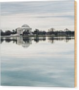 Jefferson Memorial And Tidal Basin Wood Print