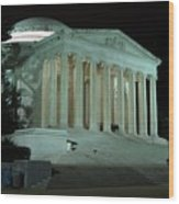 Jefferson Memorial At Night Wood Print