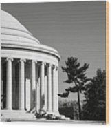 Jefferson Memorial Building In Washington Dc Wood Print
