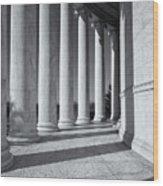 Jefferson Memorial Columns And Shadows Wood Print