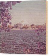 Jefferson Memorial During Spring Wood Print