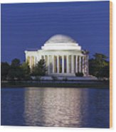 Jefferson Memorial Dusk Wood Print