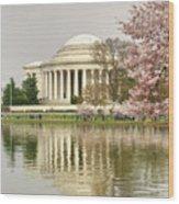 Jefferson Memorial Reflection I Wood Print