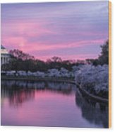 Jefferson Memorial Sunrise Wood Print