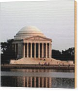 Jefferson Monument After Sunset Wood Print