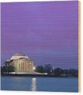 Jefferson Monument Wood Print