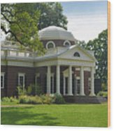 Jeffersons Monticello Wood Print