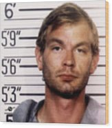 Jeffrey Dahmer Mug Shot 1991 Square  Wood Print