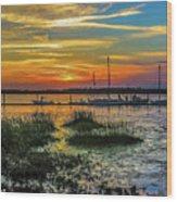 Jekyl Island Sunset Wood Print