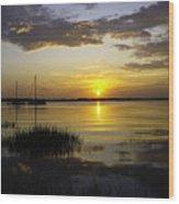Jekyll Island Sunset Wood Print