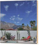 Jelly Fish Clouds In Palm Springs I Wood Print