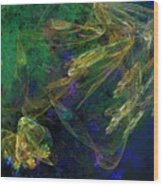 Jelly Fish  Diving The Reef Series 1 Wood Print