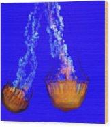 Jellyfish Art Wood Print