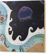 Jellyfish Jam Wood Print