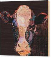 Jemima The Cow Wood Print