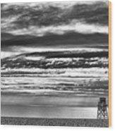 Jennings Beach, Fairfield Wood Print