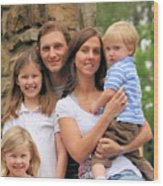 Jennifer And Family Wood Print