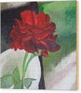 Jennifers Rose Wood Print