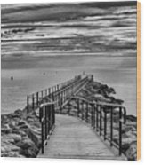Jennings Beach Dock Wood Print