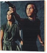 Jenny Agutter And Michael York, Logan's Run Wood Print