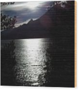Jenny Lake And The Grand Tetons At Twilight Wood Print