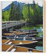 Jenny Lake Boats Wood Print