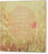 Jeremiah 29 Wood Print