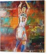 Jeremy Lin New York Knicks Wood Print by Leland Castro