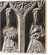 Jerpoint Abbey Irish Tomb Weepers Saints County Kilkenny Ireland Sepia Wood Print