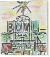 Jerry Dutler's Bowl Wood Print