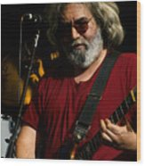 Jerry Garcia 04 Grateful Dead Alpine Valley Wisconsin 1987 Wood Print